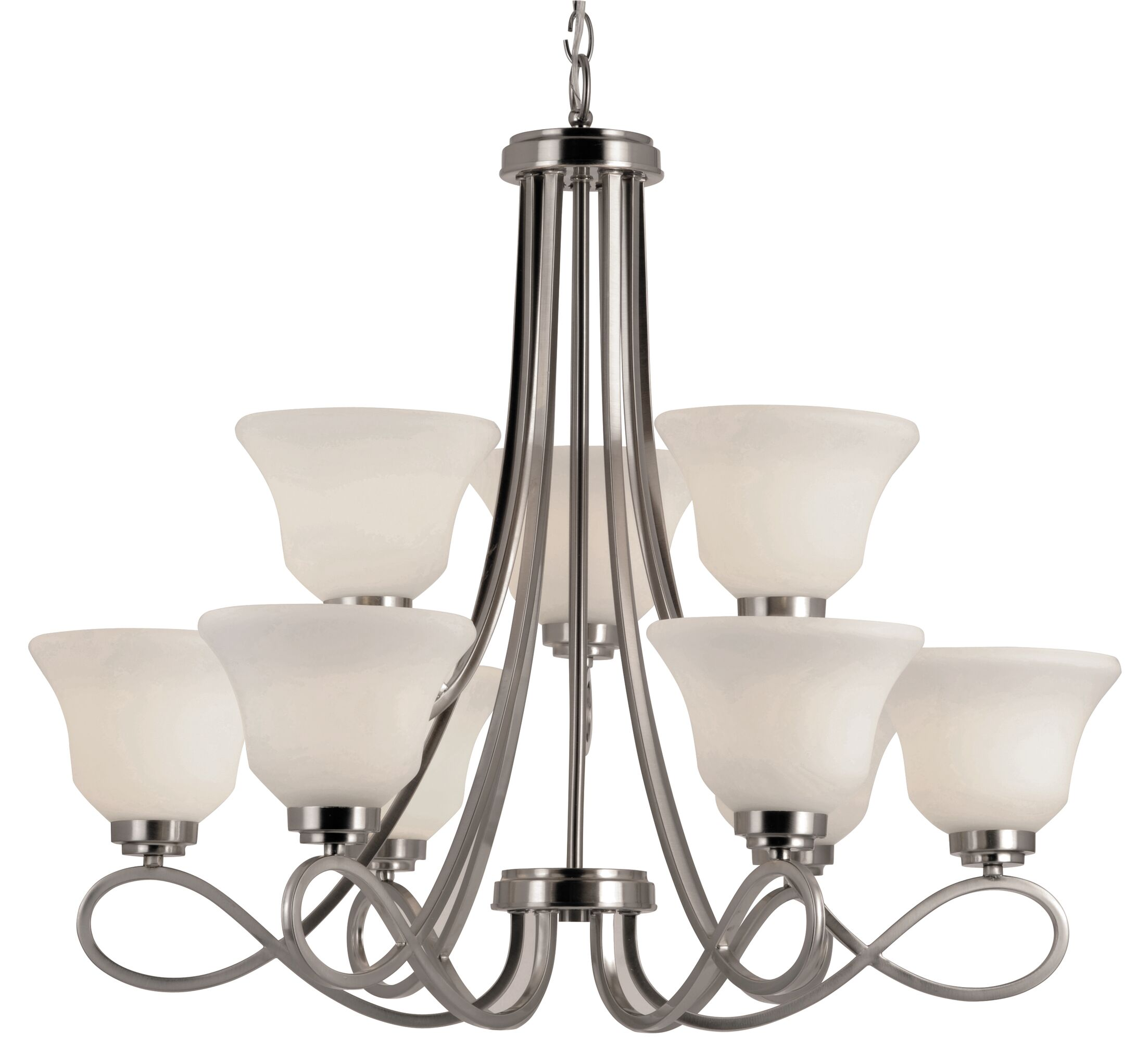 Cavallacci 9-Light Shaded Chandelier