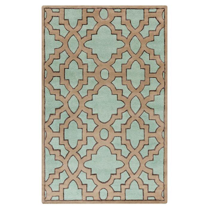 Modern Classics Teal/Light Brown Area Rug Rug Size: Rectangle 2' x 3'