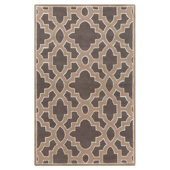 Modern Classics Charcoal/Light Brown Area Rug Rug Size: Rectangle 5' x 8'