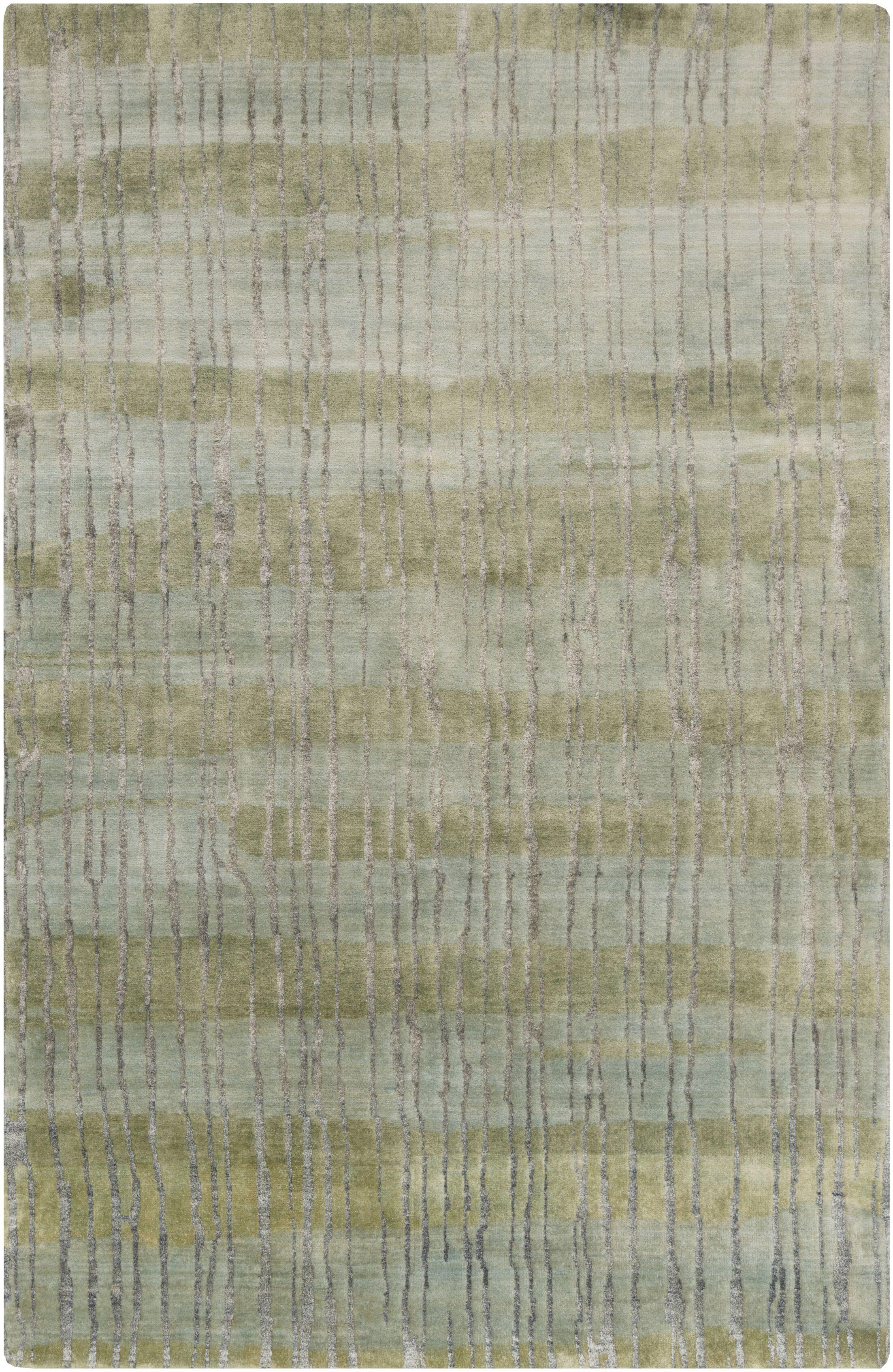 Luminous Moss/Light Gray Area Rug Rug Size: Rectangle 5' x 8'