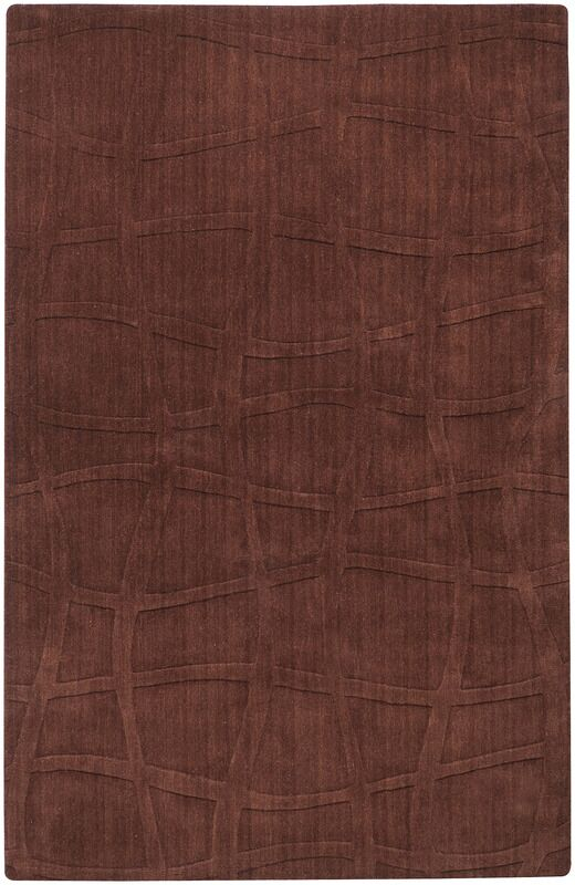 Sculpture Chocolate Checked Area Rug Rug Size: Rectangle 5' x 8'
