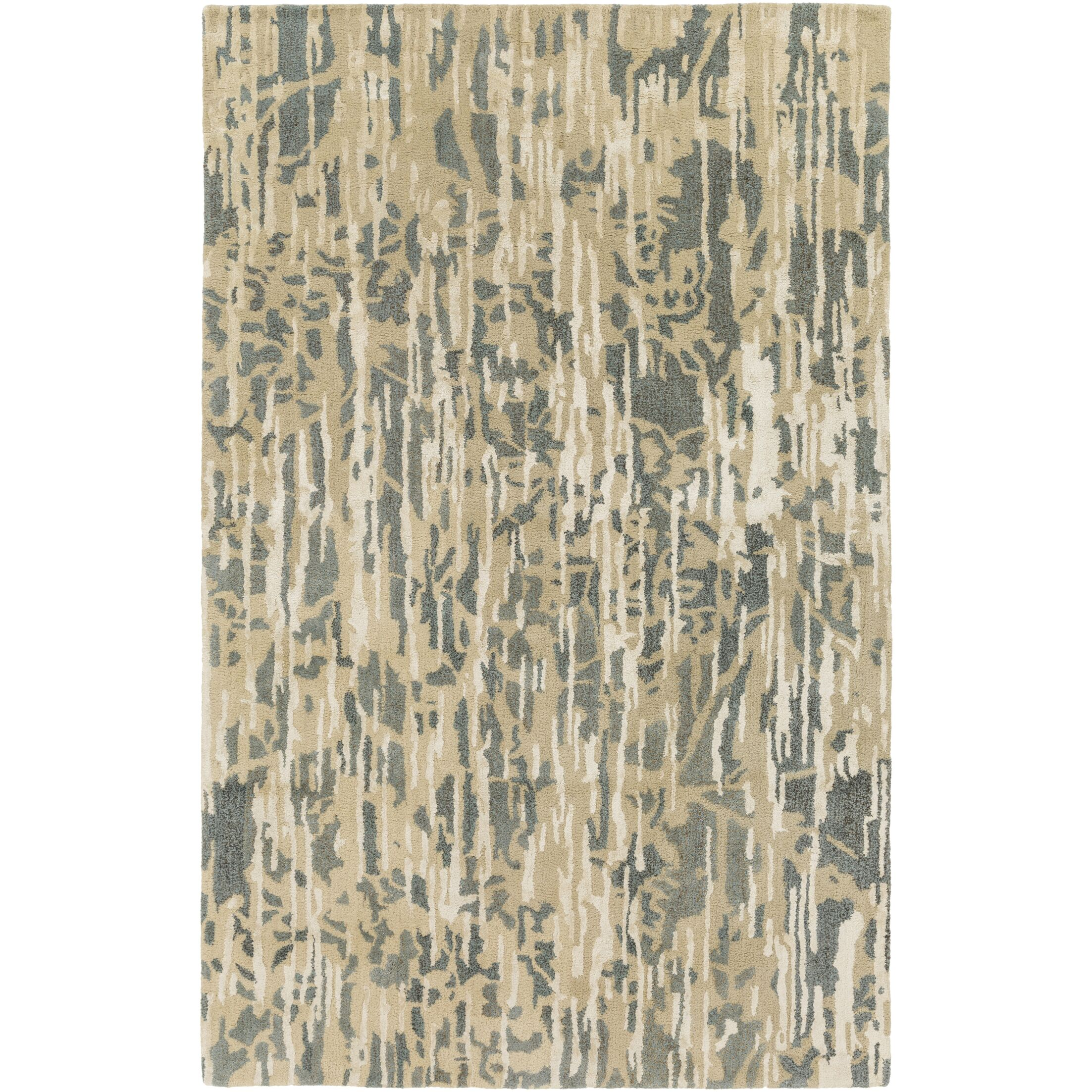 Zephyr Hand-Tufted Blue/Brown Area Rug Rug Size: Rectangle 5' x 7'6