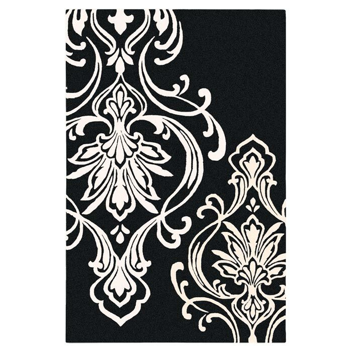 Modern Classics Black/Cream Rug Rug Size: Rectangle 9' x 13'