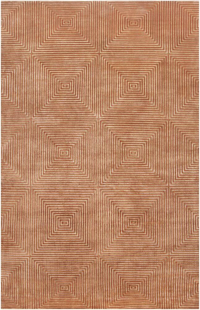 Luminous Rust Orange Area Rug Rug Size: Rectangle 5' x 8'