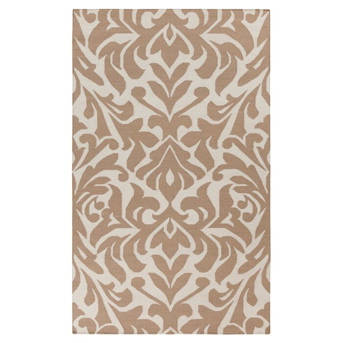 Market Place Praline White/Brown Area Rug Rug Size: Rectangle 8' x 11'