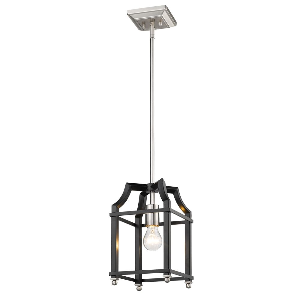 Bartley Transitional 1-Light Lantern Pendant Finish: Black