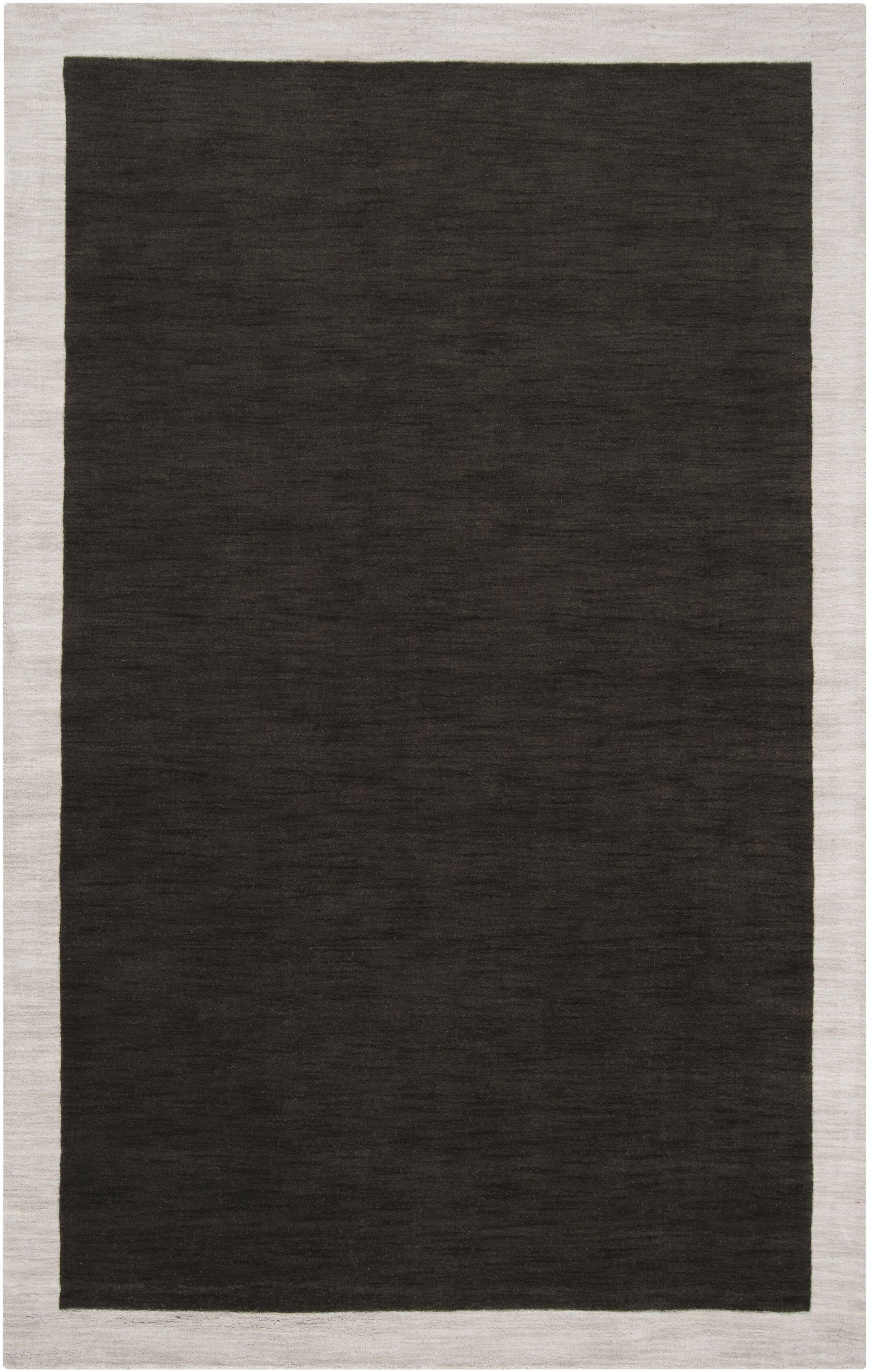 Madison Square Coal Black/Oatmeal Area Rug Rug Size: Rectangle 8' x 10'