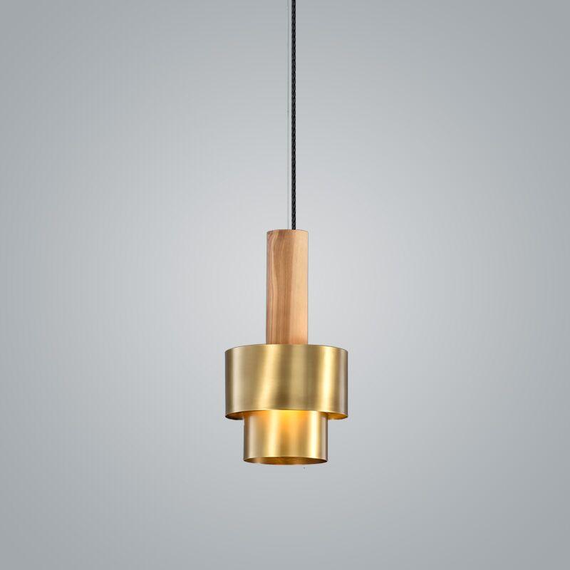 Reflections 1-Light Geometric Pendant Finish: Brass, Size: 11.5