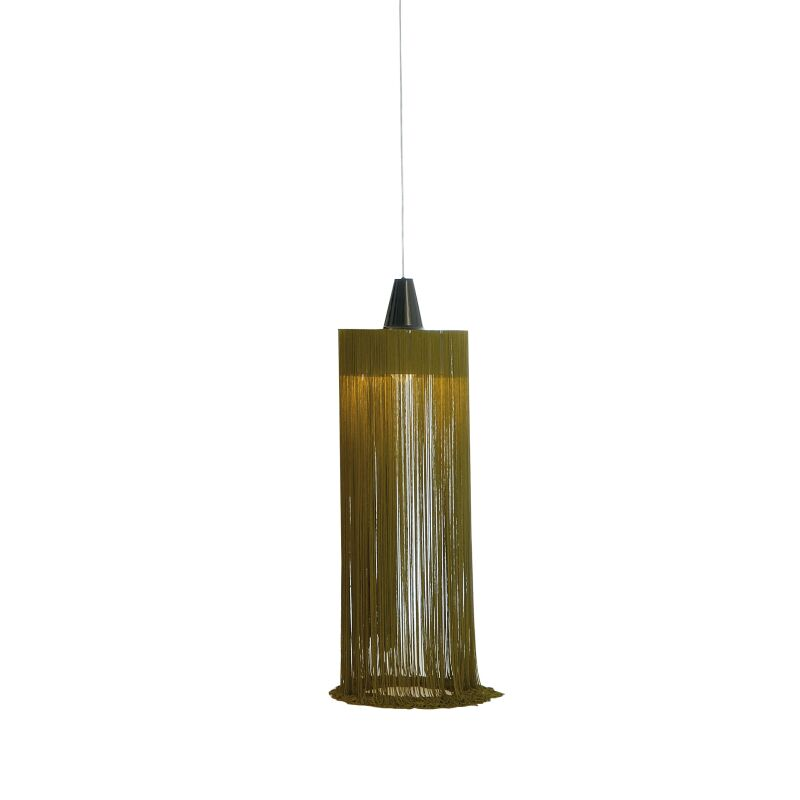 1-Light Cylinder Pendant Finish: Chrome/Green