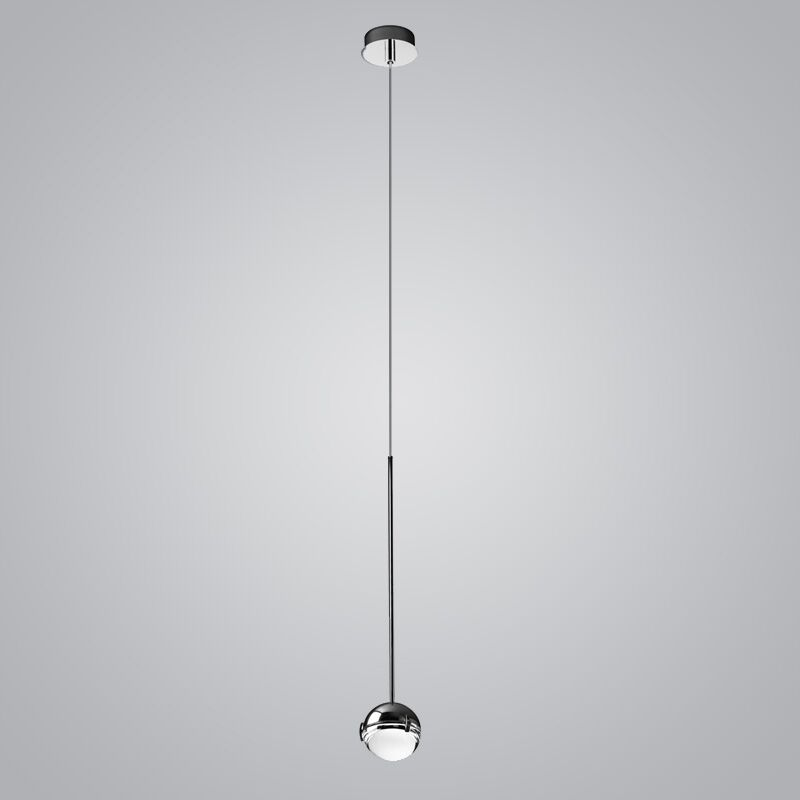 1-Light  LED Globe Pendant Finish: Chrome/Satin
