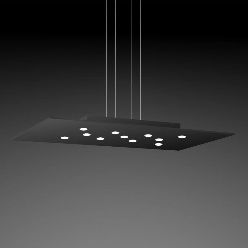 Pop 11-Light Geometric Chandelier Fixture Finish: Black