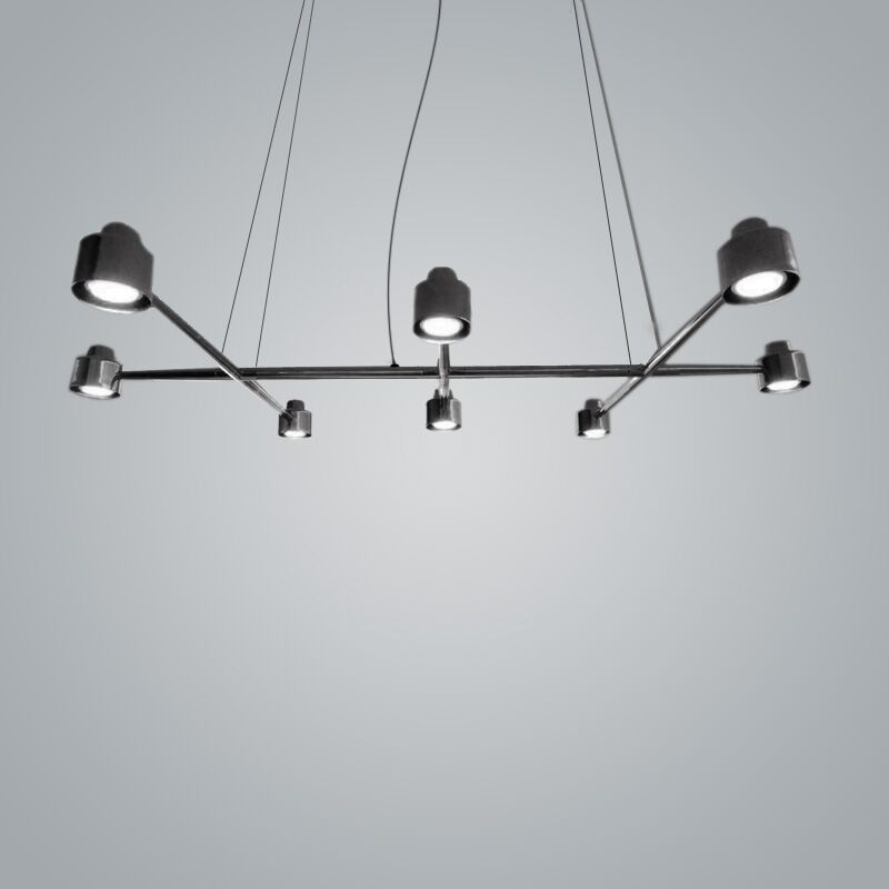 Spider 8-Light Kitchen Island Pendant Finish: Black Chrome