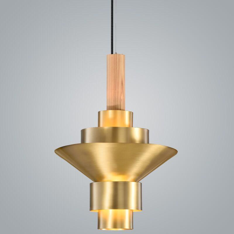 Reflections 2-Light  LED  Pendant Finish: Brass