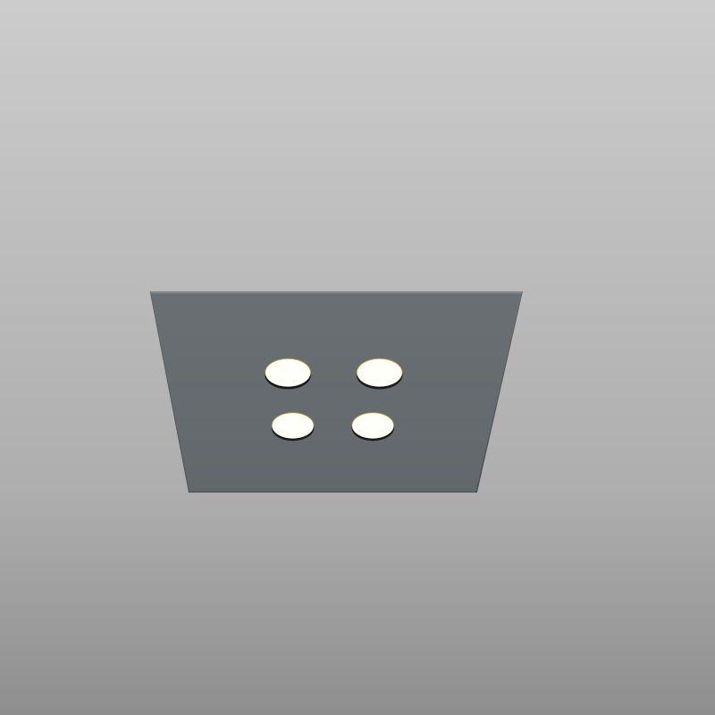 4-Light Flush Mount Fixture Finish: Gray