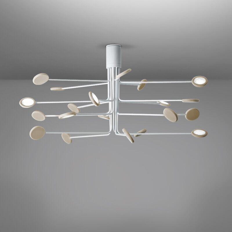 Arbor 20-Light LED Flush Mount Fixture Finish: White/Dove Gray