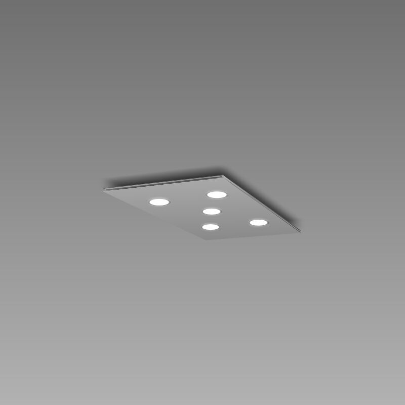 Pop 5-Light Flush Mount Fixture Finish: Gray/Aluminum