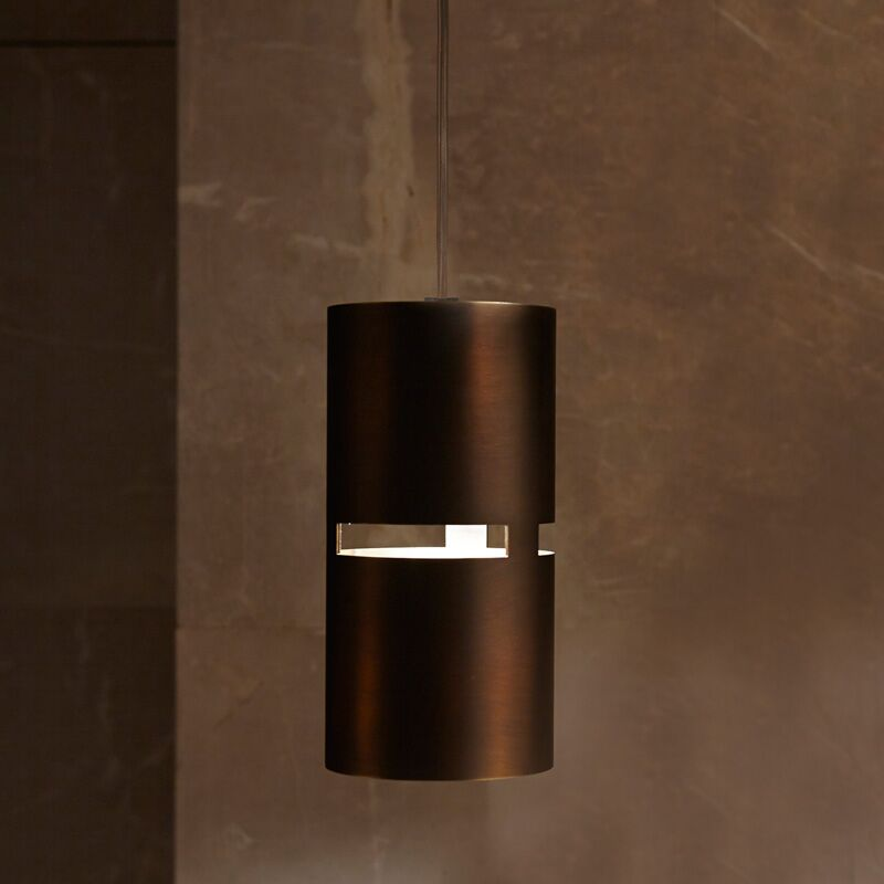 Luz Oculta 1-Light Cylinder Pendant Finish: Brass