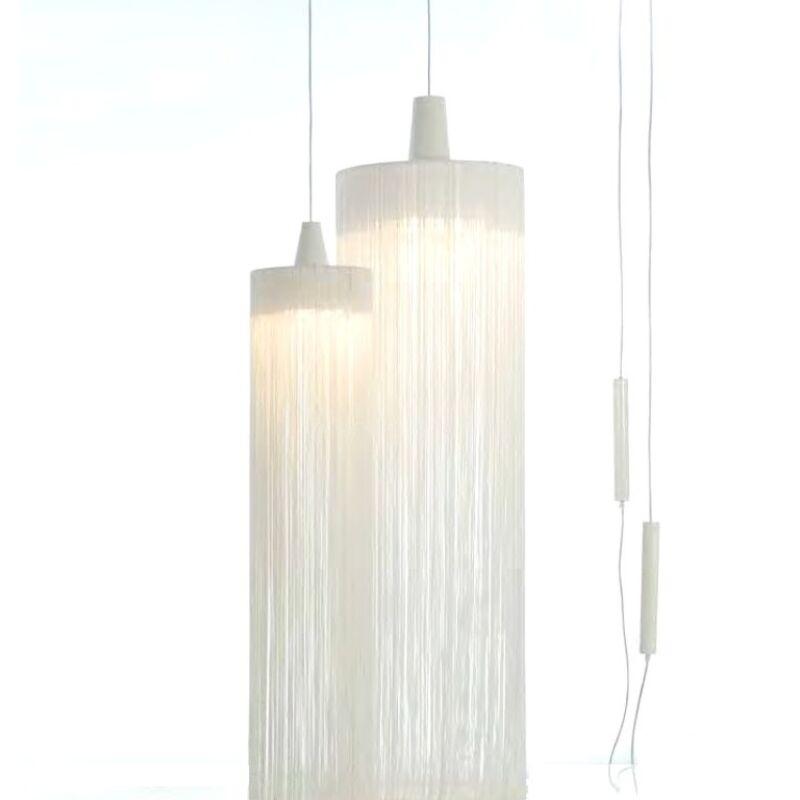 1-Light Cylinder Pendant Finish: White/White