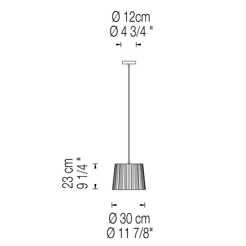 Rafia 1-Light Pendant Size: 17.87