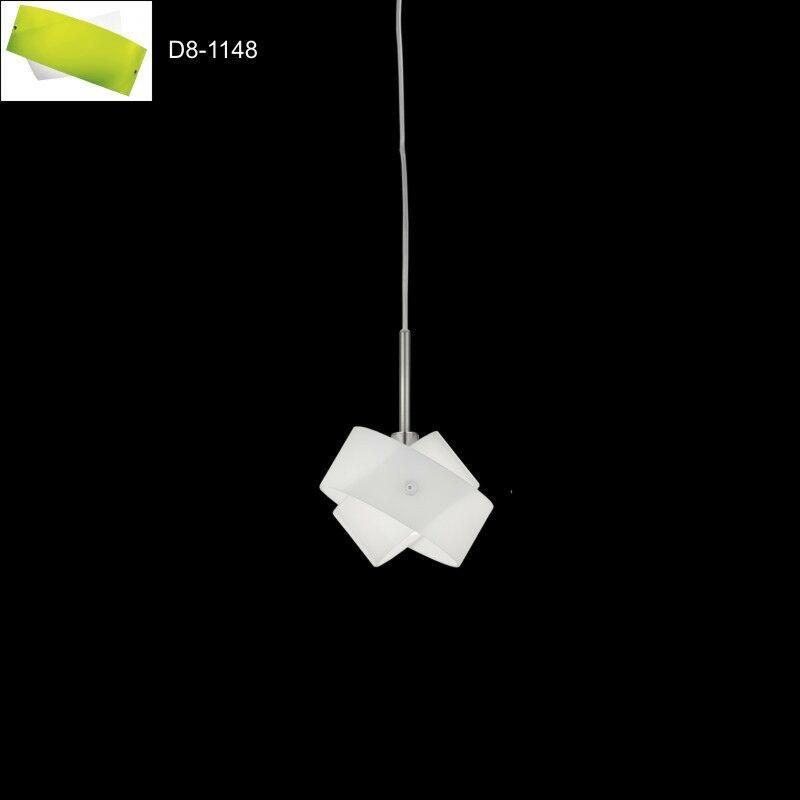 Tourbillon 1-Light Mini Pendant Shade Color: White/Green