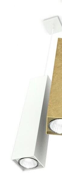 Two 1-Light Geometric Pendant Finish: White