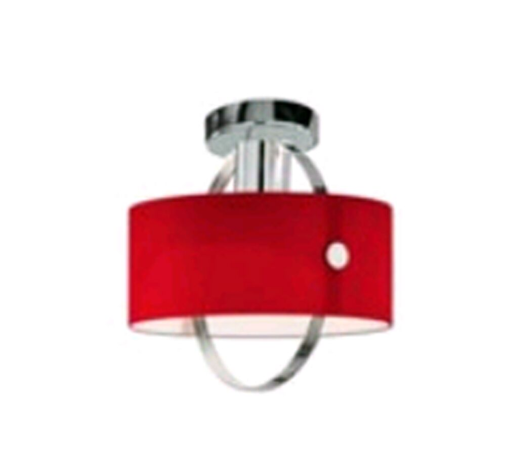 Ring 1-Light Semi Flush Mount Shade Color: Orange, Fixture Finish: Chrome