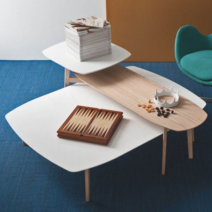 Match Coffee Table Top Color: Matte Optic White, Base Color: Natural