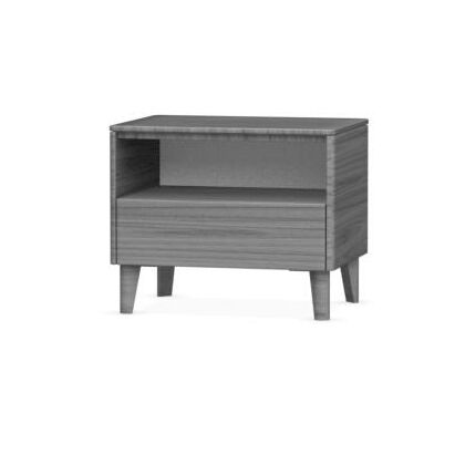 Boston 1 Drawer Nightstand Leg Color: Smoke, Frame Color: Smoke