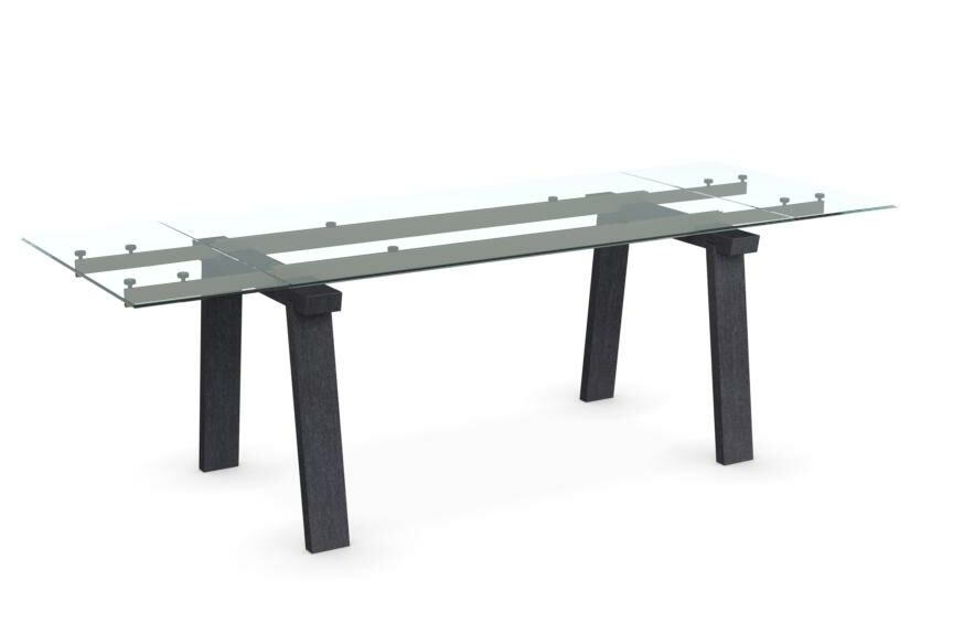 Levante Extendable Dining Table Top Color: Matte Optic White, Base Color: Matte Optic White, Size: 29