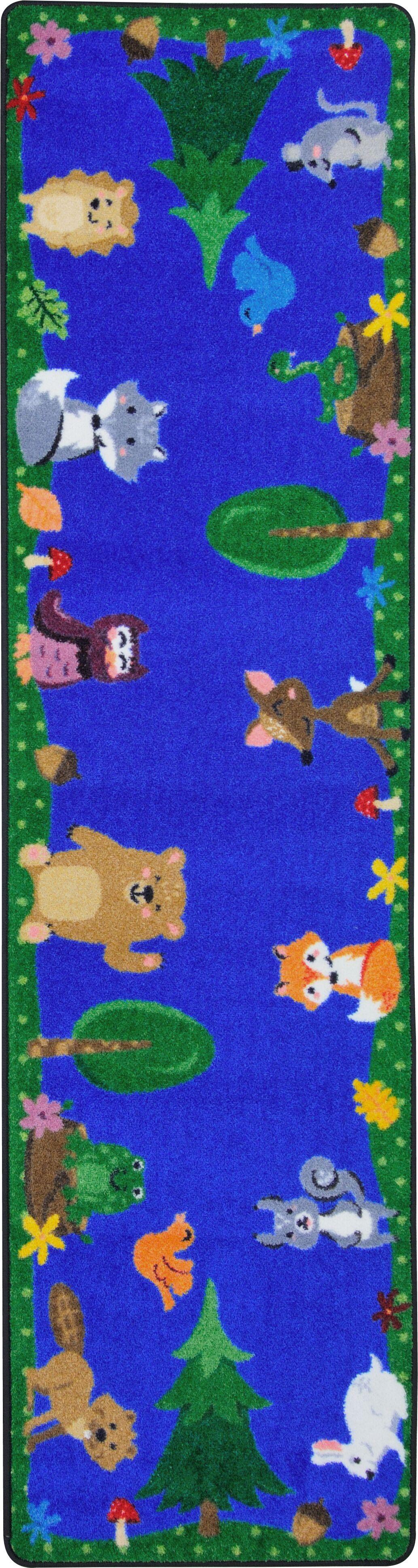 Animals Among Us Blue/Green Area Rug Rug Size: Oval 7'8