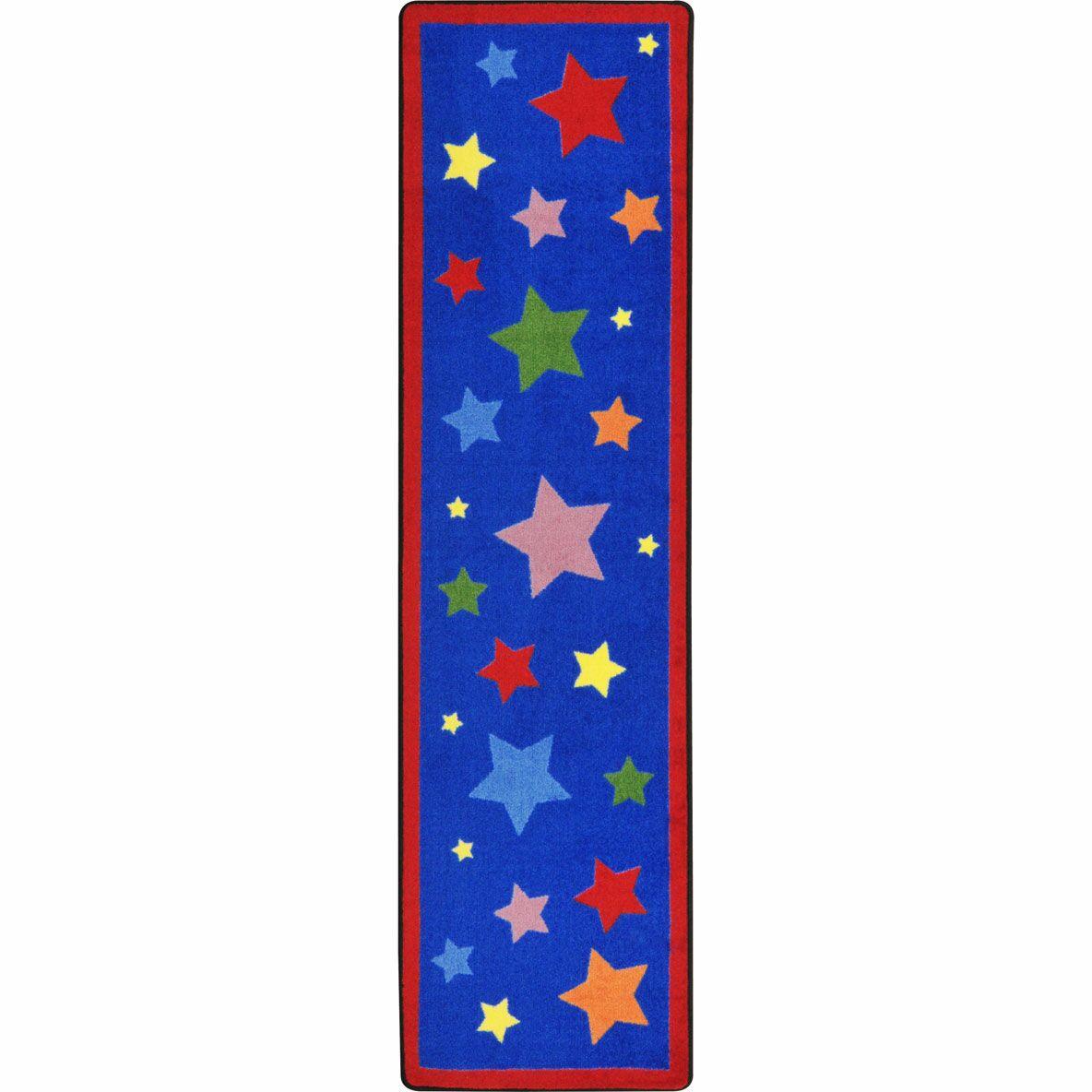 Reading Superstars Blue Area Rug Rug Size: 5'4