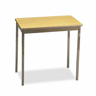 Barricks Utility Training Table Size: 30H x 30W x 18D, Tabletop Finish: Oak/Brown