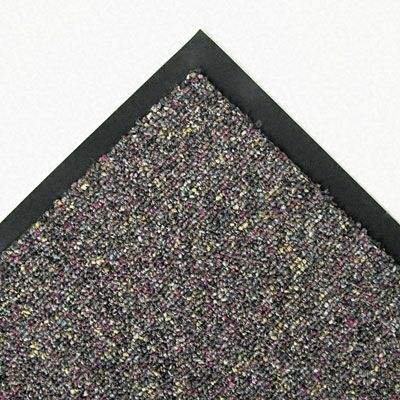 Crown Classic-Berber Doormat Mat Size: Rectangle 3'x5', Color: Gray