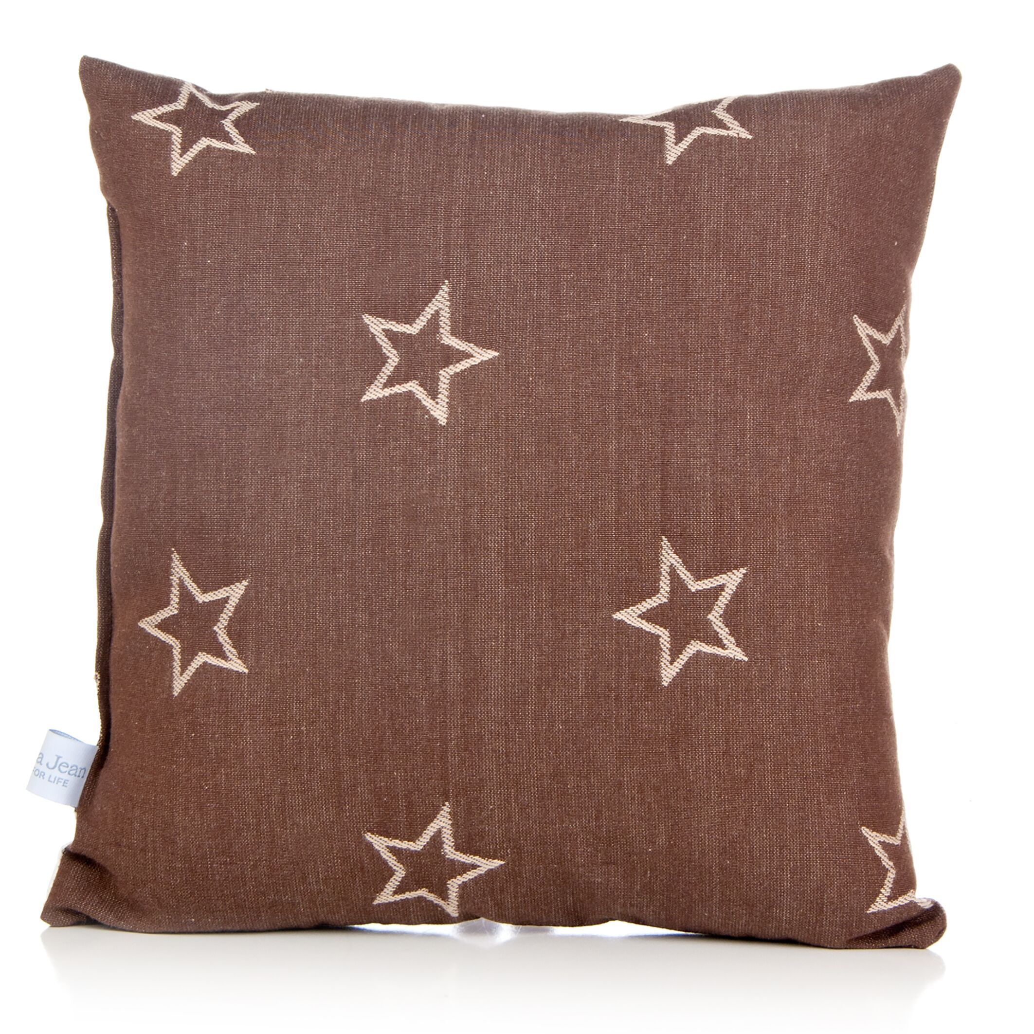 Dunecrest Denim Star Cotton Throw Pillow