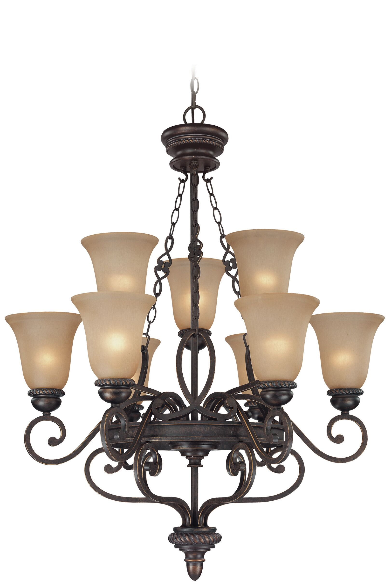 Chasing 9-Light Shaded Chandelier