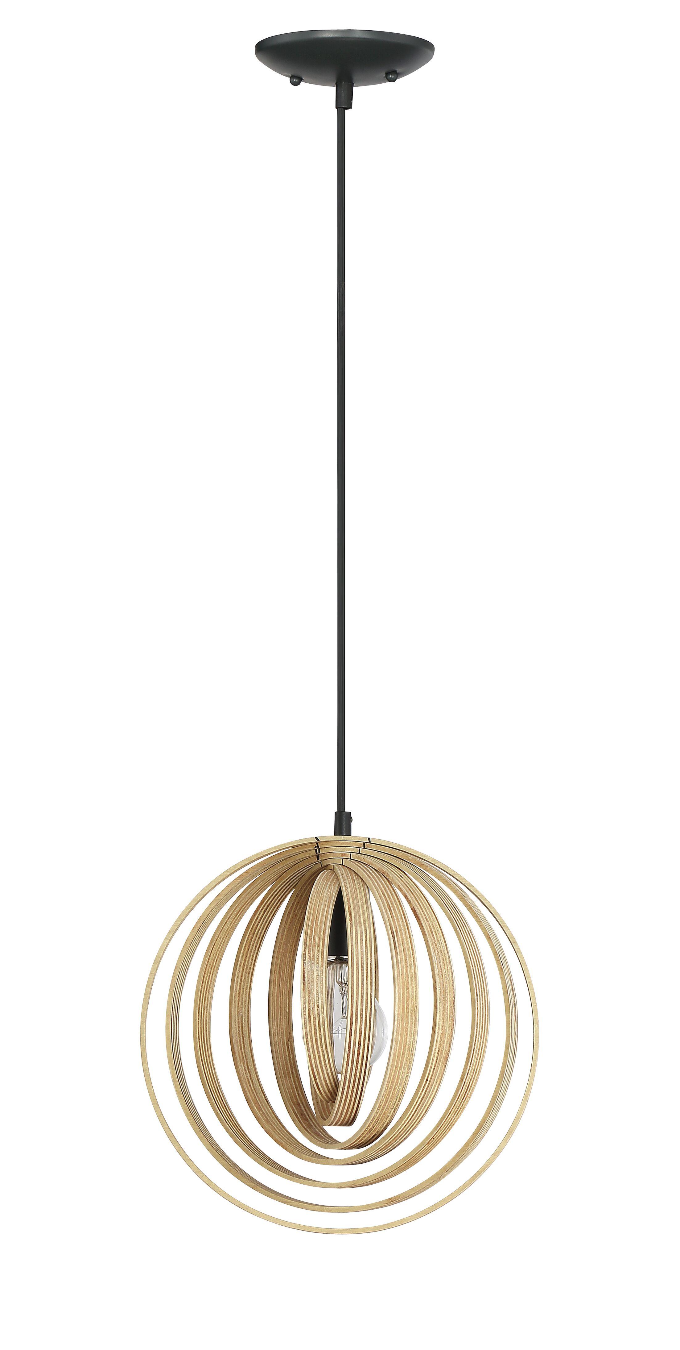 Ussery 1-Light Globe Pendant Size: 131.25