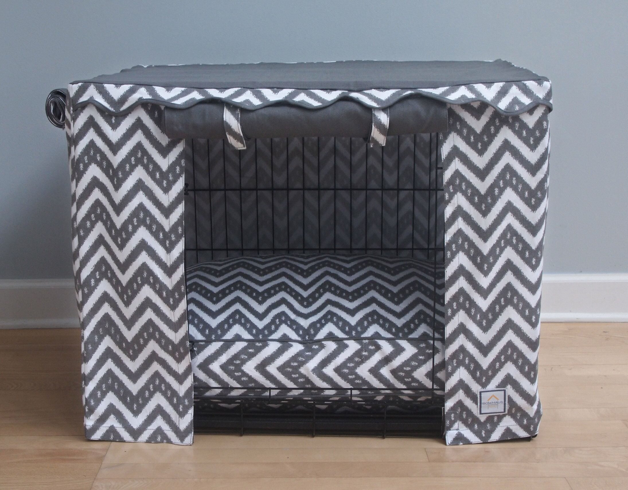 Fair Isle Dog Crate Cover Size: Small