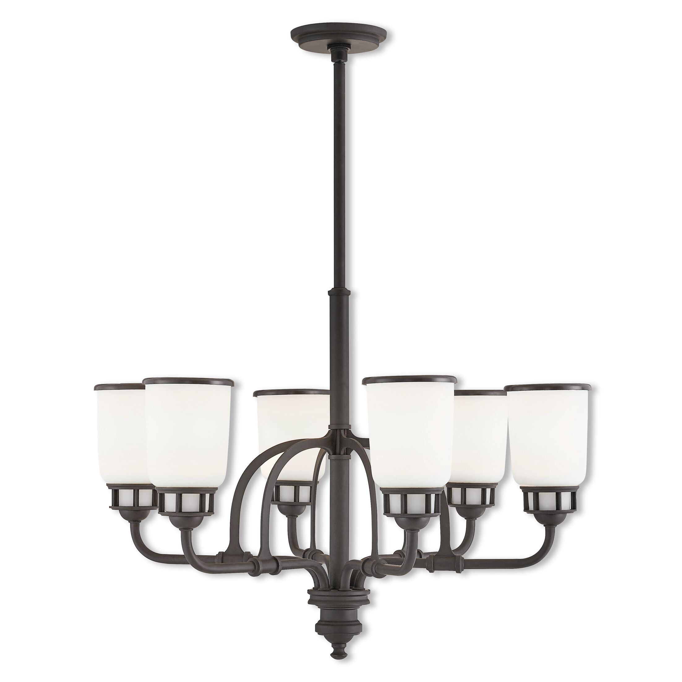 Laurenza 6-Light Shaded Chandelier Finish: Bronze