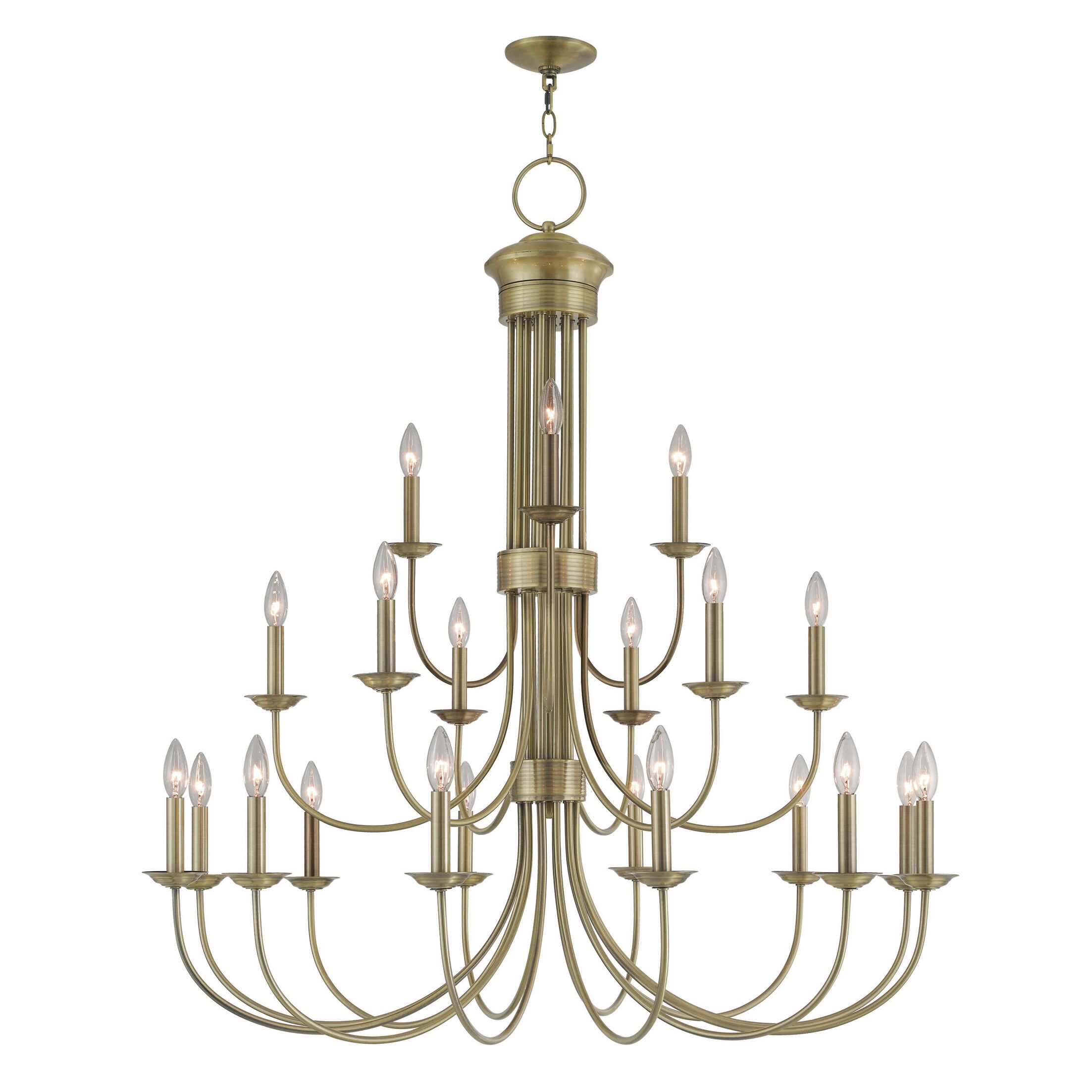 Lakemoor 22-Light Chandelier Finish: Antique Brass