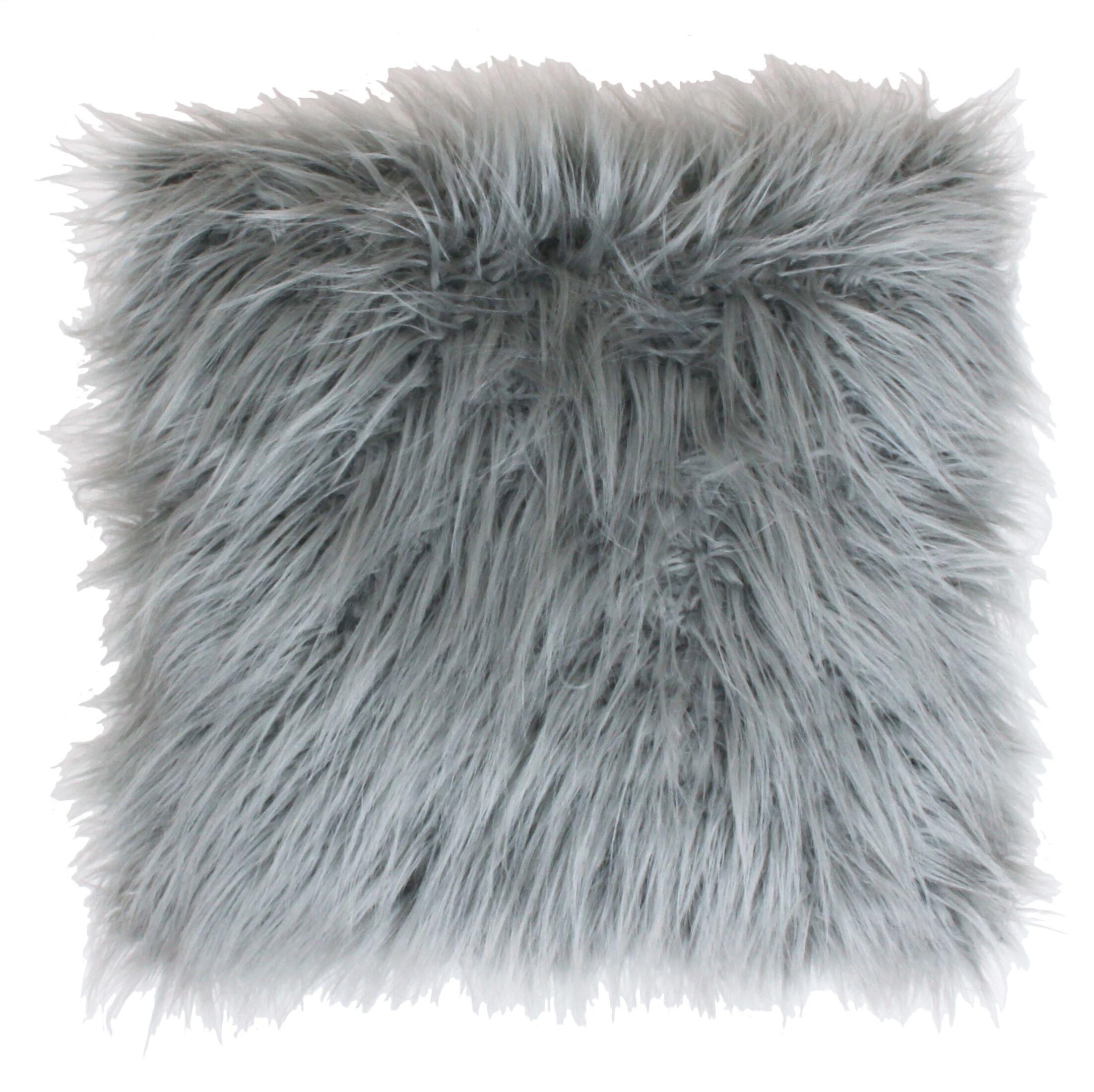 Alanna Throw Pillow Color: Silver, Size: 20