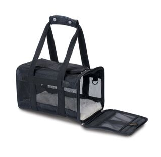 Original Deluxe Pet Carrier Color: Black, Size: Small (8.5