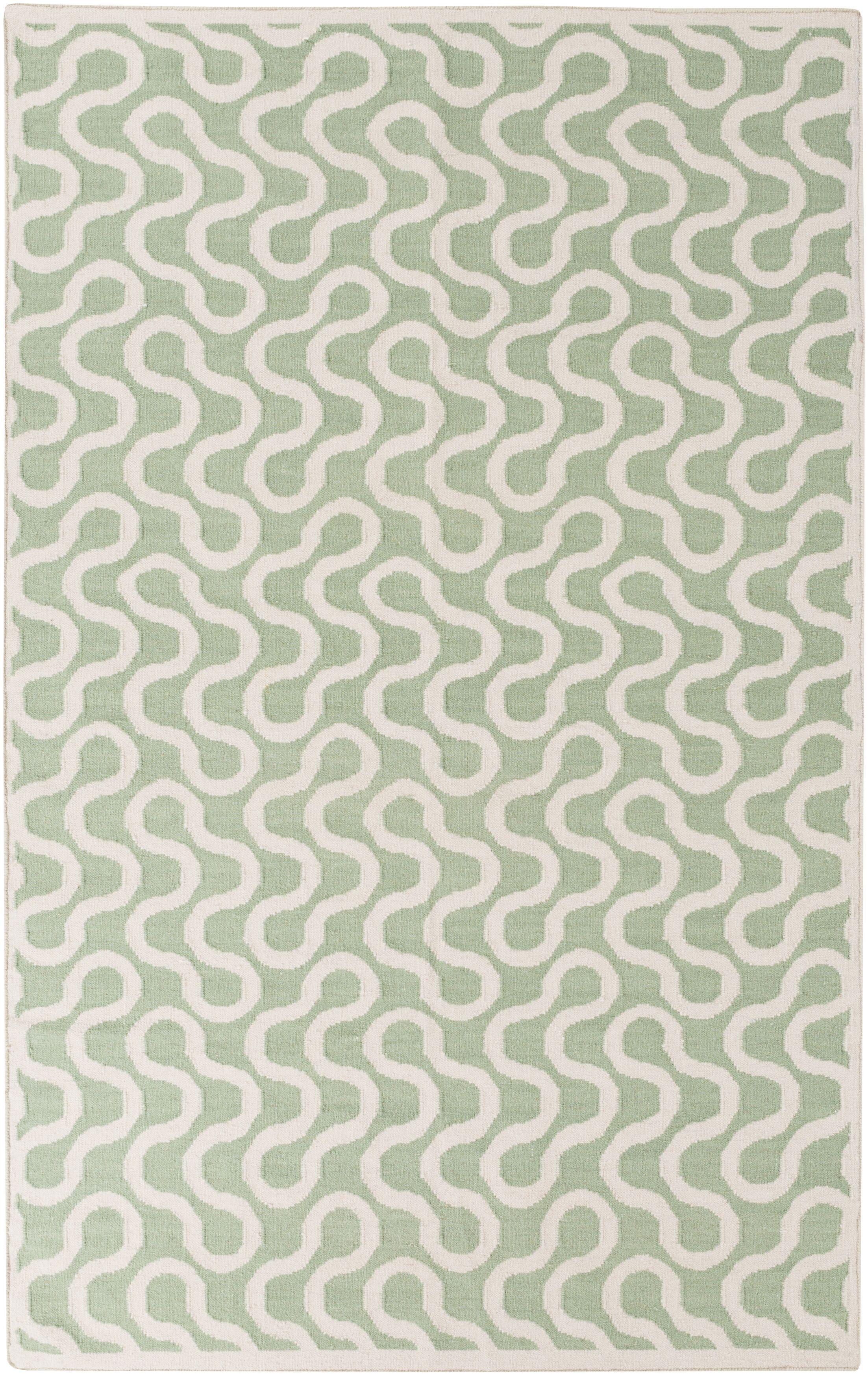 Native Sea Foam Geometric Area Rug Rug Size: Rectangle 8' x 11'