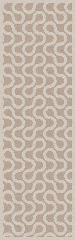 Native Gray/Ivory Geometric Area Rug Rug Size: Runner 2'6