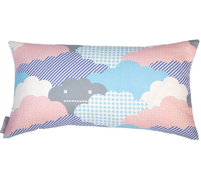 Clouds Bolster Pillow Color: Storm, Fill Type: Fiber Fill