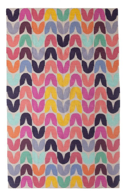 Tulip Hand-Woven Pink Area Rug Rug Size: 6' x 9'