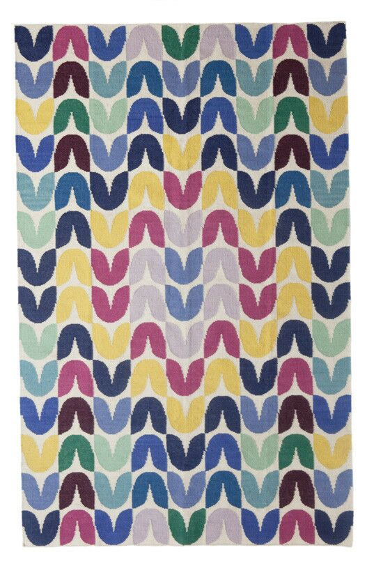 Tulip Hand-Woven Blue Area Rug Rug Size: 5' x 8'