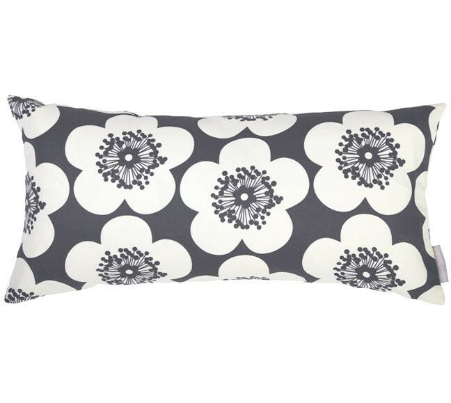Pop Floral Bolster Pillow Color: Peony, Fill Type: Feather Down