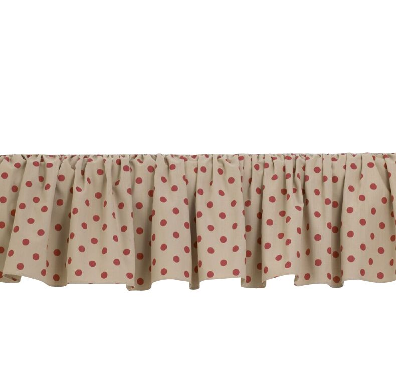 Raspberry Dot Bed Skirt Size: Full