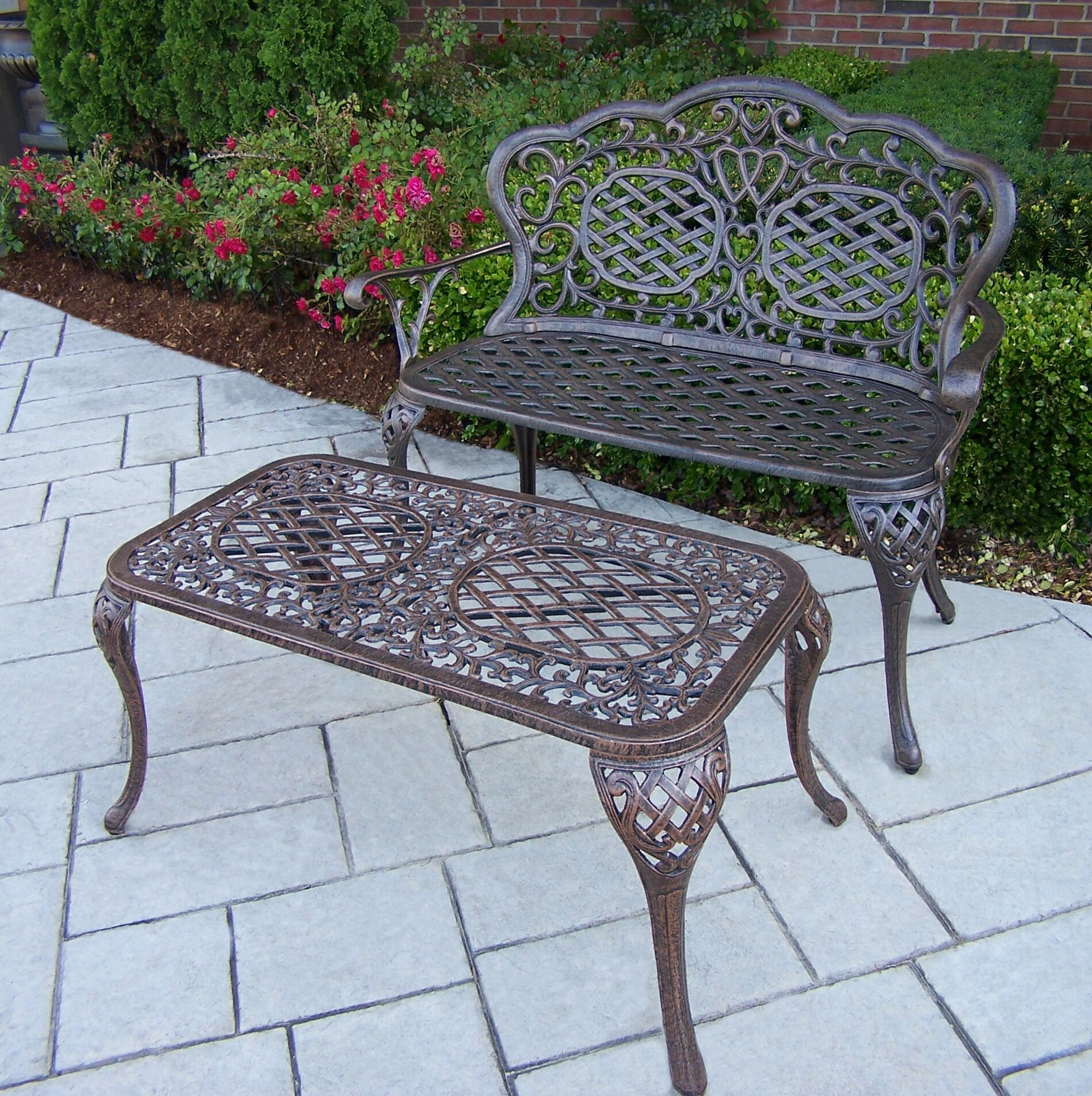 Mississippi 2 Piece Sofa Set Color: Antique Bronze