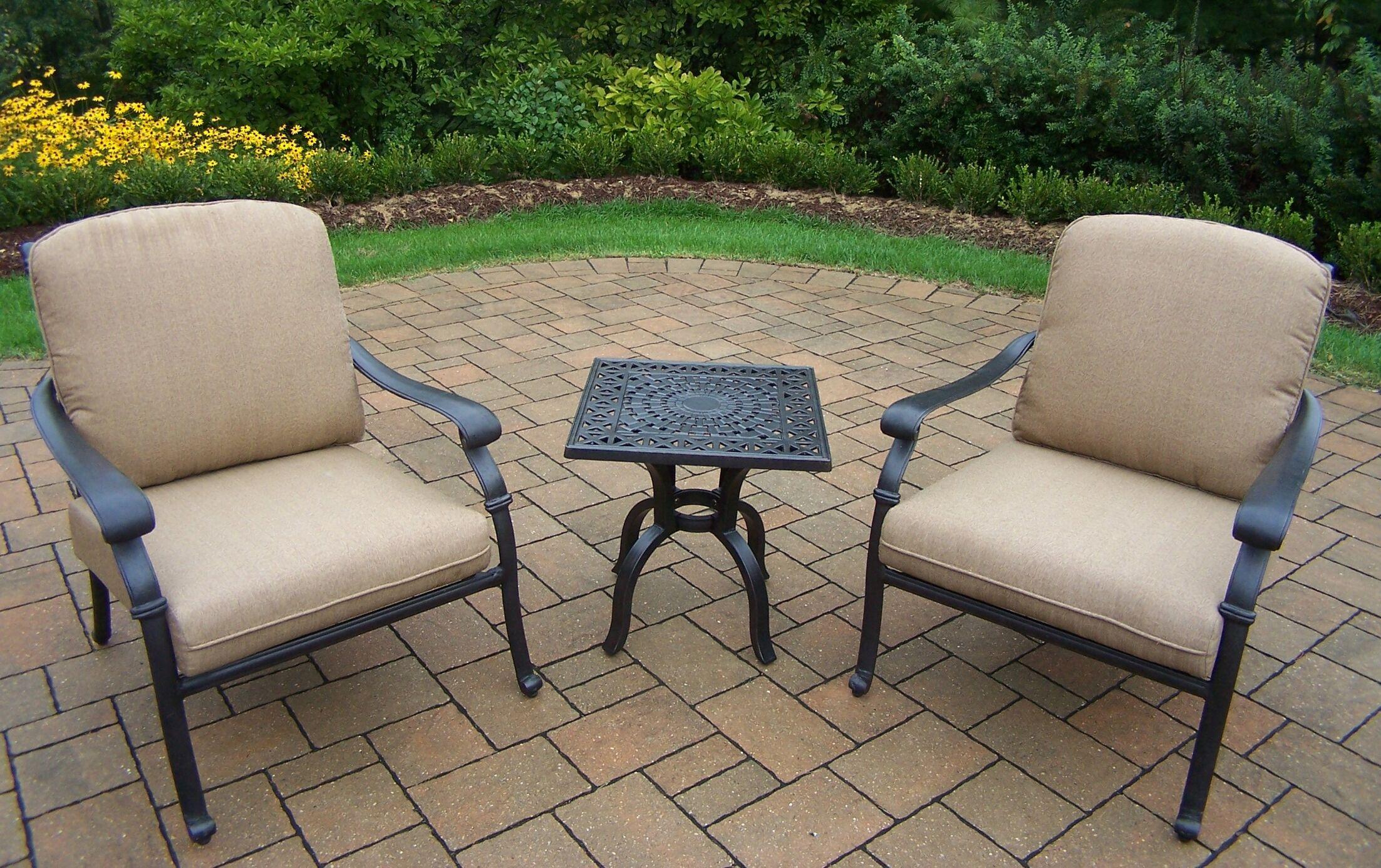 Bosch 3 Piece Sunbrella Conversation Set Cushion Fabric: Spunpolyester Light Beige